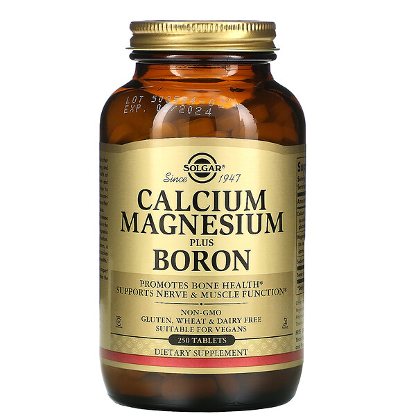Calcium Magnesium Plus Boron, 250 Tablets