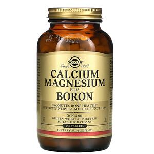 Солгар, Calcium Magnesium Plus Boron, 250 Tablets отзывы покупателей
