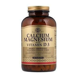 Solgar, Calcio Magnesio con Vitamina D3, 300 comprimidos