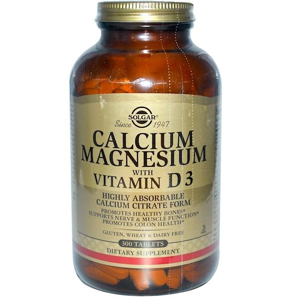 Solgar, Calcium Magnesium with Vitamin D3, 300 Tablets