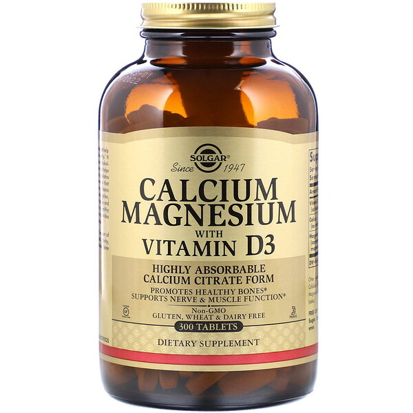 Calcium Magnesium with Vitamin D3, 300 Tablets