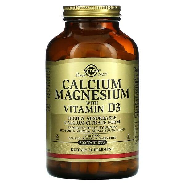 Calcium Magnesium with Vitamin D3, 300 Tablets