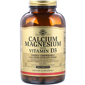 Солгар, Calcium Magnesium with Vitamin D3, 300 Tablets отзывы покупателей