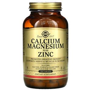 Солгар, Calcium Magnesium Plus Zinc, 250 Tablets отзывы покупателей