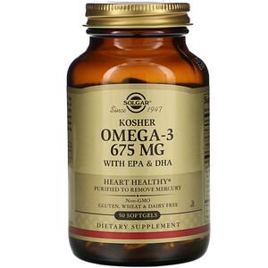 Solgar, Kosher Omega-3, 675 mg, 50 Softgels