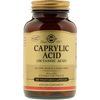 Solgar, Caprylic Acid, 100 Vegetable Capsules