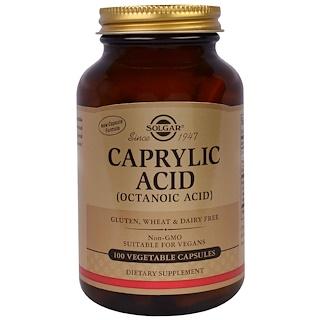 Solgar, Caprylic Acid, 100 Veggie Caps