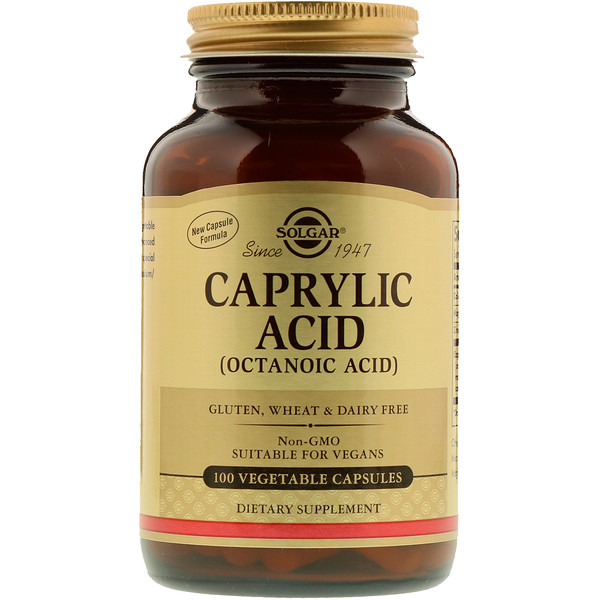 Caprylic Acid, 100 Vegetable Capsules