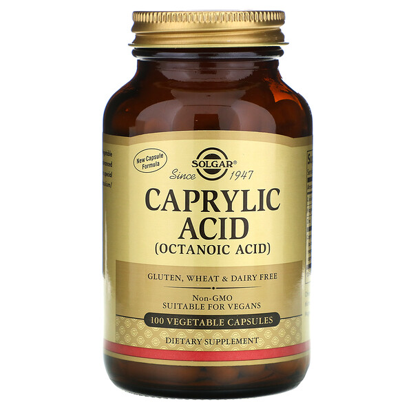 Ácido Caprílico, 100 vegetable capsules