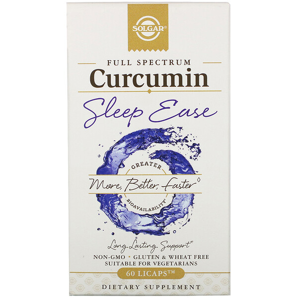 Full Spectrum Curcumin, Sleep Ease, 60 Licaps