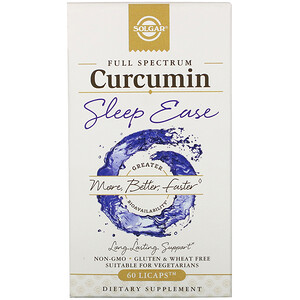 Solgar, Full Spectrum Curcumin, Sleep Ease, 60 Licaps
