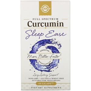 Solgar, Full Spectrum Curcumin, Sleep Ease, 60 Licaps