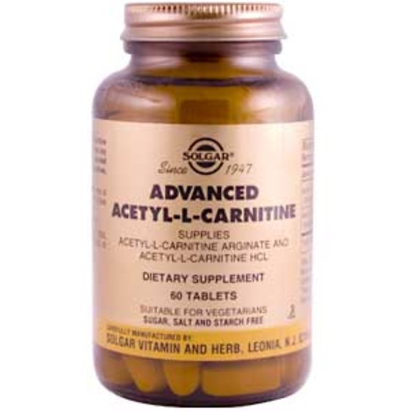 Solgar, Advanced Acetyl-L-Carnitine, 60 Tablets (Discontinued Item)
