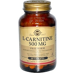 Solgar, L-Carnitine, 500 mg, 60 Tablets