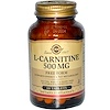 Solgar, L-карнитин, 500 мг, 60 таблеток