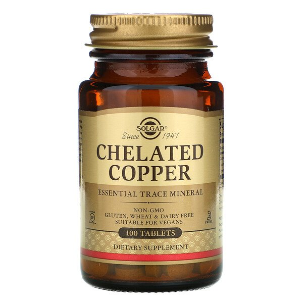 Chelated Copper, 100 Tablets