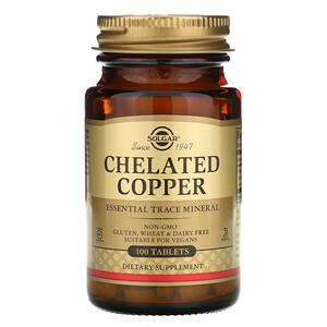 Солгар, Chelated Copper, 100 Tablets отзывы