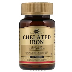 Solgar, Chelated Iron, 100 Tablets