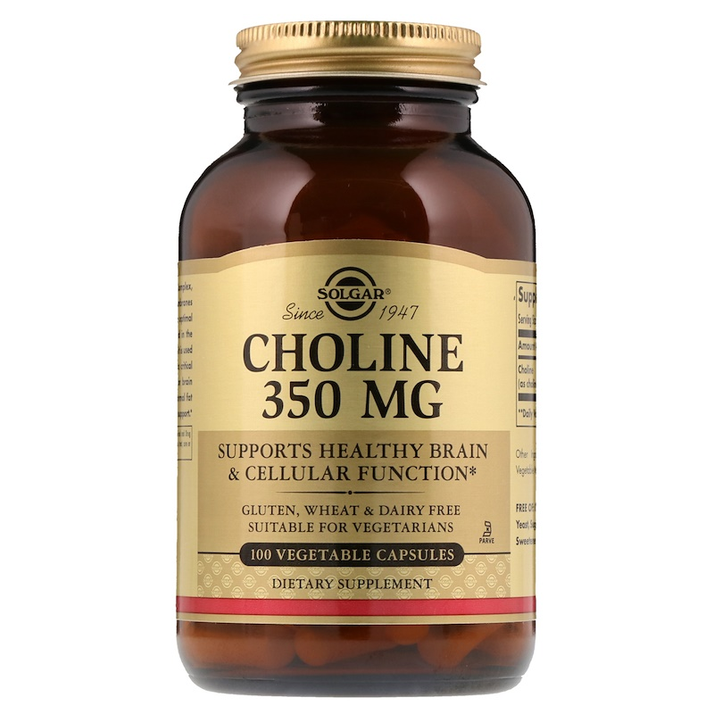 Choline, 350 mg, 100 Vegetable Capsule