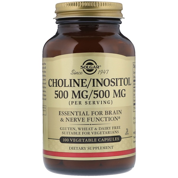 Choline/Inositol, 100 Vegetable Capsules