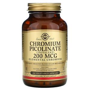 Солгар, Chromium Picolinate, 200 mcg, 180 Vegetable Capsules отзывы