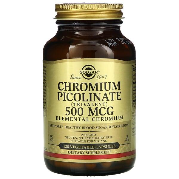 吡啶羧酸鉻,500微克,120粒素食膠囊