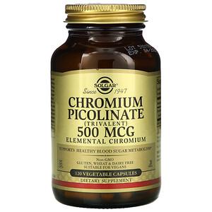 Солгар, Chromium Picolinate, 500 mcg, 120 Vegetable Capsules отзывы покупателей