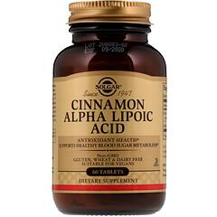 Solgar, Cinnamon Alpha-Lipoic Acid, 60 Tablets