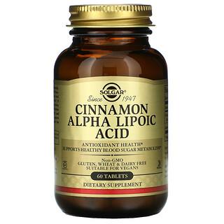 Solgar, Cinnamon Alpha Lipoic Acid, 60 Tablets