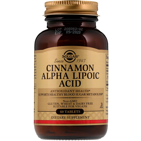 Cinnamon Alpha Lipoic Acid, 60 Tablets