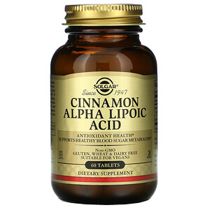 Солгар, Cinnamon Alpha Lipoic Acid, 60 Tablets отзывы