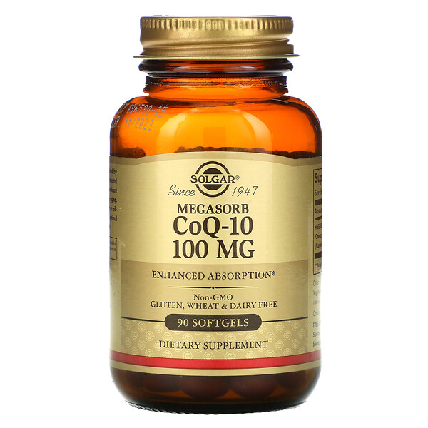 Solgar, Megasorb CoQ-10, 100 mg, 90 Softgels