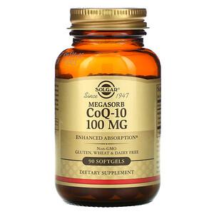 Солгар, Megasorb CoQ-10, 100 mg, 90 Softgels отзывы покупателей