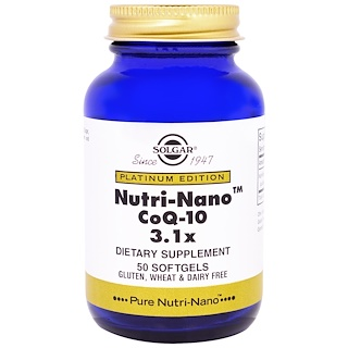 Solgar, Platinum Edition, Nutri-Nano CoQ-10 3.1x, 50 Softgels