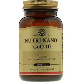Solgar, Nutri-Nano CoQ-10, 50 мягких таблеток