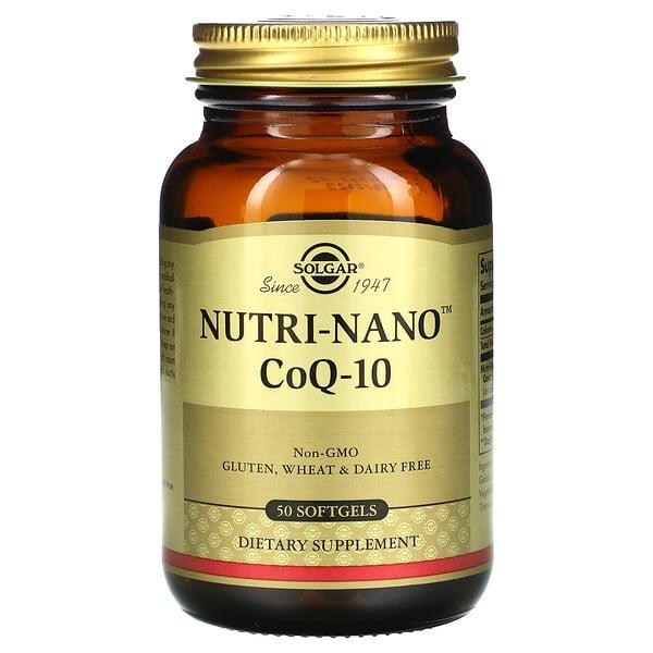 Solgar, Nutri-Nano 辅酶Q-10,50粒软胶囊