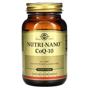 Солгар, Nutri-Nano CoQ-10, 50 Softgels отзывы покупателей