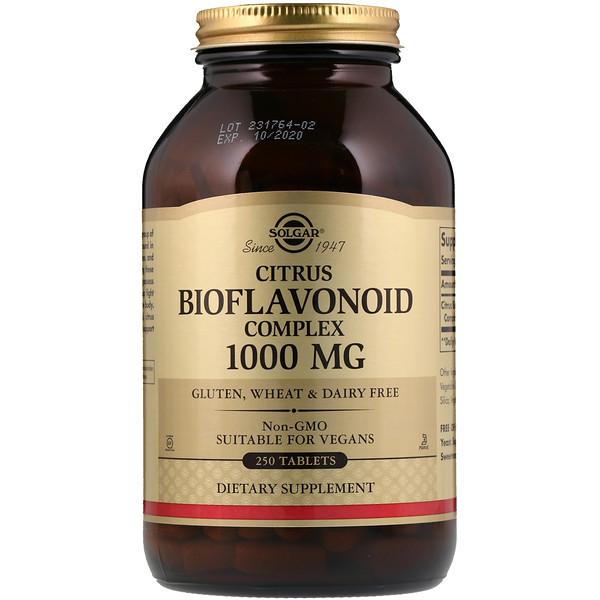 Solgar, Citrus Bioflavonoid Complex, 1,000 mg, 250 Tablets