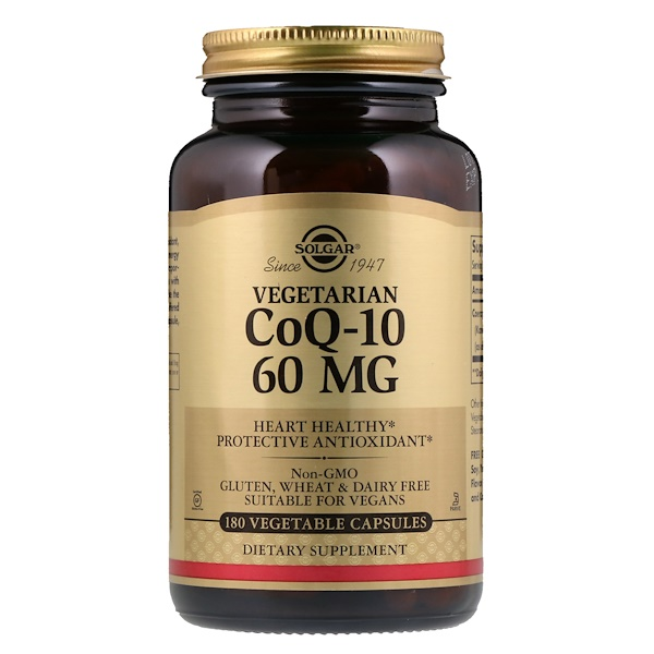 Solgar, Vegetarian CoQ-10, 60 mg, 180 Vegetable Capsules