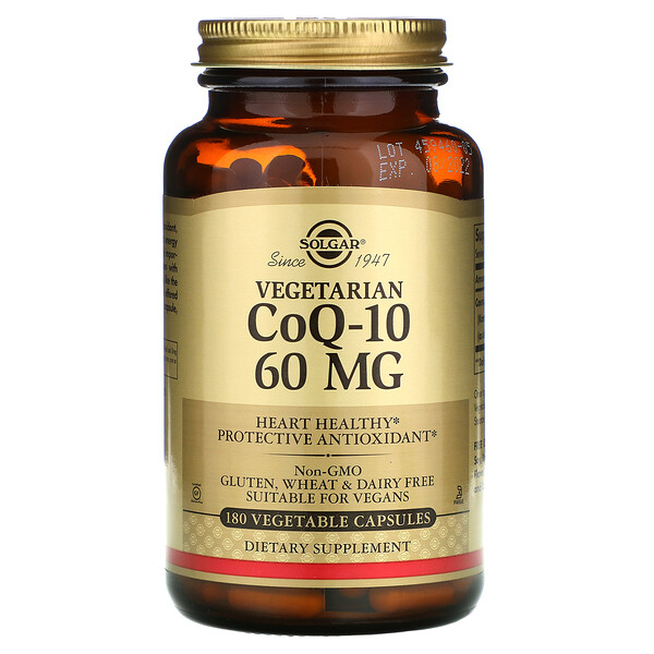 Vegetarian CoQ-10, 60 mg, 180 Vegetable Capsules