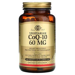 Солгар, Vegetarian CoQ-10, 60 mg, 180 Vegetable Capsules отзывы