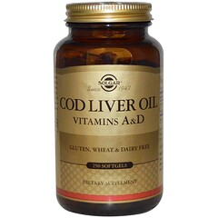 Solgar, Cod Liver Oil, Vitamin A & D, 250 Softgels