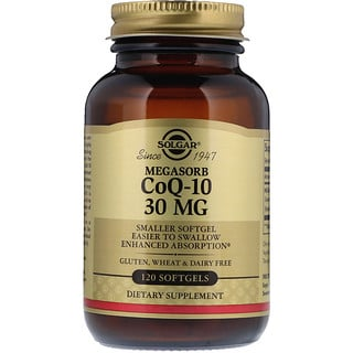 Solgar, Megasorb CoQ-10, 30 mg, 120 Softgels