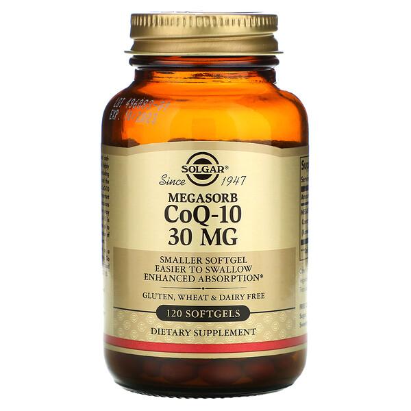 Solgar, Megasorb CoQ-10, 30 mg, 120 Softgels