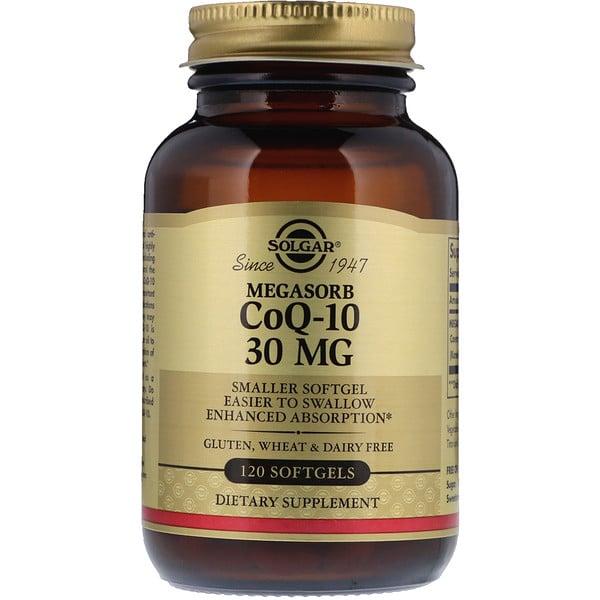 مرافق الإنزيم Megasorb CoQ-10، 30 مجم، 120 كبسولة هلامية