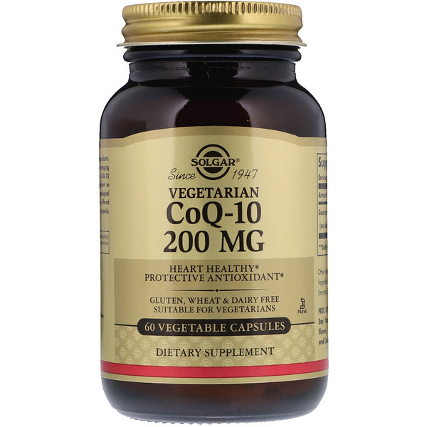 Vegetarian CoQ-10, 200 mg, 60 Vegetable Capsules