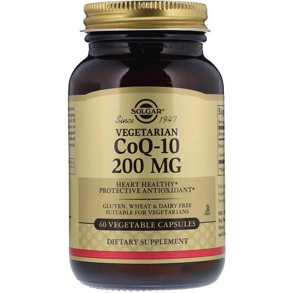 CoQ-10 de origem vegetal, 200 mg, 60 Cápsulas Vegetais
