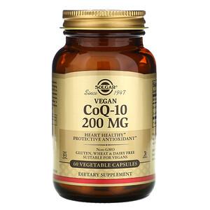 Солгар, Vegetarian CoQ-10, 200 mg, 60 Vegetable Capsules отзывы покупателей