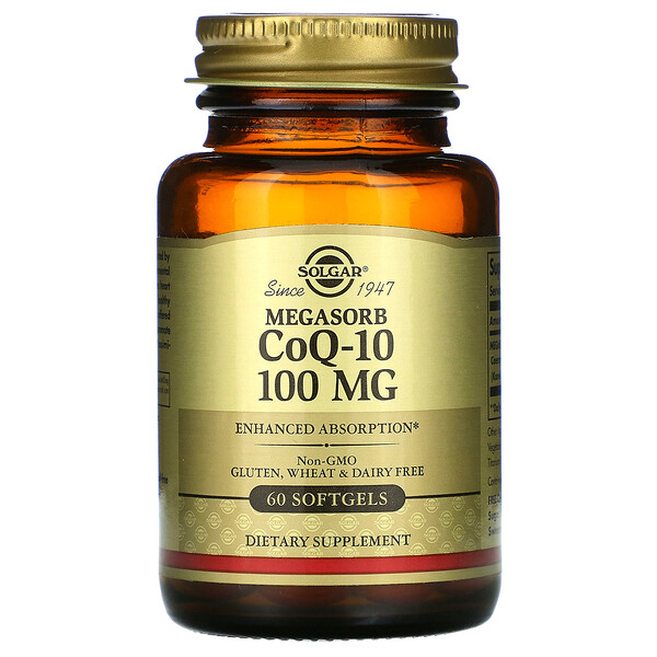 Megasorb CoQ-10, 100 mg, 60 Softgels