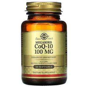Солгар, Megasorb CoQ-10, 100 mg, 60 Softgels отзывы покупателей